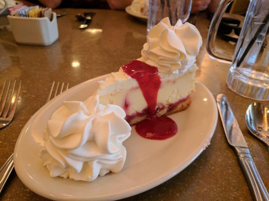 Raspberry, lemon and lime cheesecake