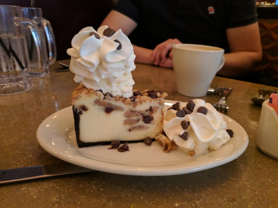 Cookie dough and choc-chip cheesecake